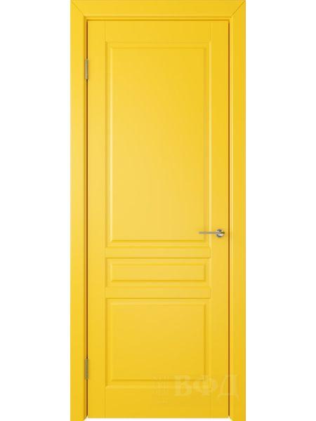 Межкомнатная дверь ВФД Стокгольм 56ДГ08 (Желтая эмаль)
