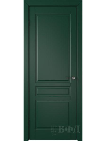 Межкомнатная дверь ВФД Стокгольм 56ДГ10 (Зеленая эмаль)