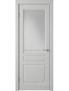 ВФД Стокгольм 56ДО02 (Светло-серая эмаль - Белый сатинат с гравировкой)