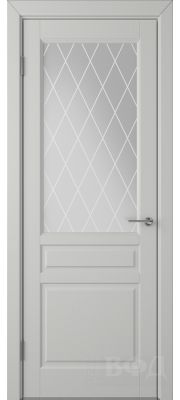 ВФД Стокгольм 56ДО02 (Светло-серая эмаль - Белый сатинат с печатью)