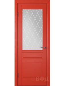 ВФД Стокгольм 56ДО07 (Красная эмаль - Белый сатинат с печатью)