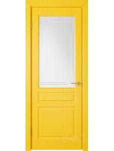 ВФД Стокгольм 56ДО08 (Желтая эмаль - Белый сатинат с гравировкой)