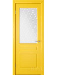 ВФД Стокгольм 56ДО08 (Желтая эмаль - Белый сатинат с печатью)