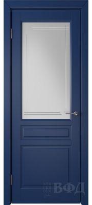 ВФД Стокгольм 56ДО09 (Синяя эмаль - Белый сатинат с гравировкой)