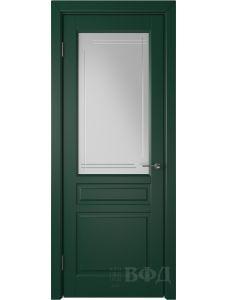 ВФД Стокгольм 56ДО10 (Зеленая эмаль - Белый сатинат с гравировкой)