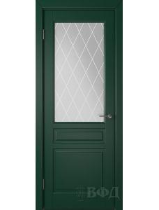 ВФД Стокгольм 56ДО10 (Зеленая эмаль - Белый сатинат с печатью)
