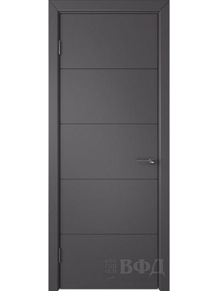 Межкомнатная дверь ВФД Тривиа 50ДГ06 (Графит эмаль)