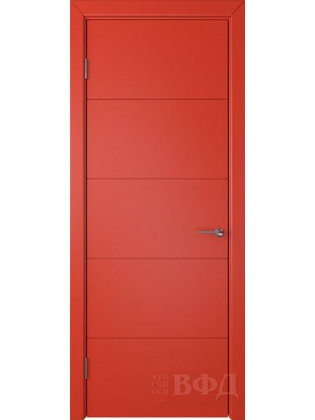 Межкомнатная дверь ВФД Тривиа 50ДГ07 (Красная эмаль)
