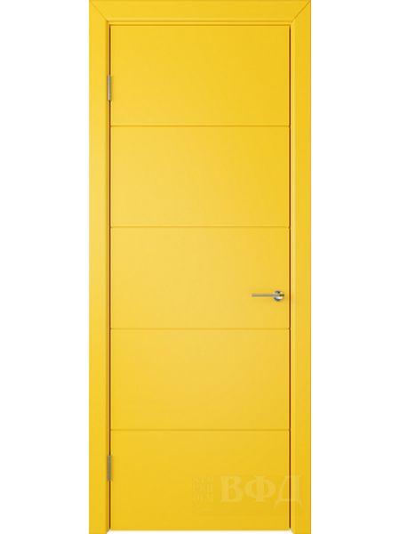 Межкомнатная дверь ВФД Тривиа 50ДГ08 (Желтая эмаль)