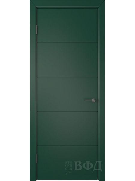 Межкомнатная дверь ВФД Тривиа 50ДГ10 (Зеленая эмаль)