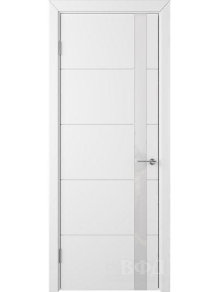 Межкомнатная дверь ВФД Тривиа 50ДО0 (Белая эмаль - Стекло белое)