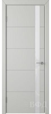 ВФД Тривиа 50ДО02 (Светло-серая эмаль - Стекло белое)