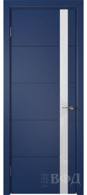 ВФД Тривиа 50ДО09 (Синяя эмаль - Стекло белое)