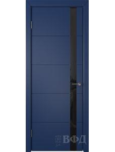 ВФД Тривиа 50ДО09 (Синяя эмаль - Стекло черное)