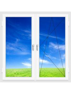 Окно ПВХ 1300х1400 мм (Двухстворчатое, поворотно-откидное, 5-ти камерное)