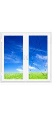 Окно ПВХ 1300х1400 мм (Двухстворчатое, поворотно-откидное, 3-х камерное)
