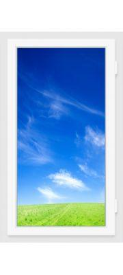 Окно ПВХ 900х1400 мм (Одностворчатое, глухое, 3-х камерное)