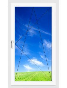 Окно ПВХ 900х1400 мм (Одностворчатое, поворотно-откидное, 3-х камерное)