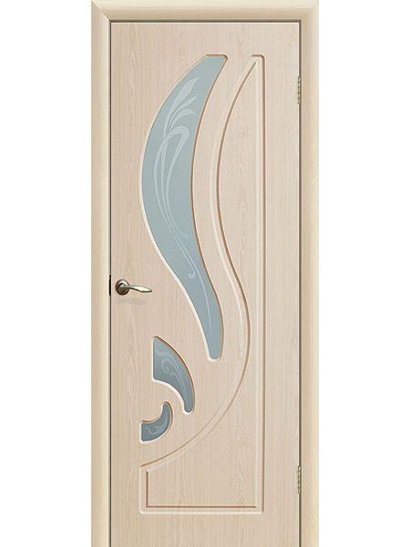 Межкомнатная дверь ПО Лилия (Беленый дуб)