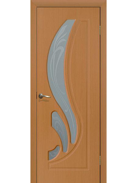 Межкомнатная дверь ПО Лилия (Миланский орех)
