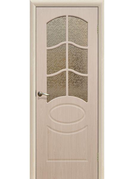 Межкомнатная дверь ПО Неаполь (Беленый дуб)