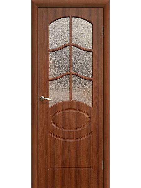 Межкомнатная дверь ПО Неаполь (Итальянский орех)