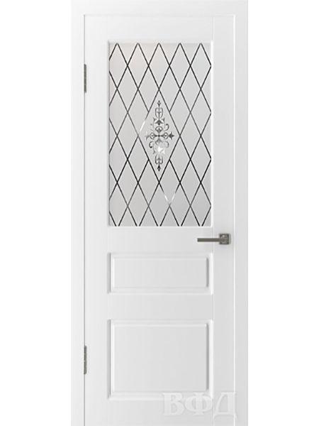 Межкомнатная дверь ВФД Честер 15ДО0 стекло 2 (Эмаль)