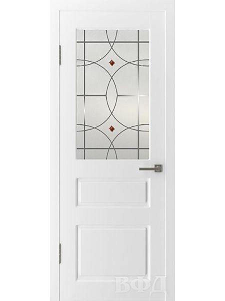Межкомнатная дверь ВФД Честер 15ДО0 стекло 3 (Эмаль)