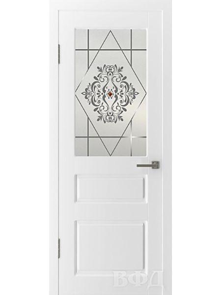 Межкомнатная дверь ВФД Честер 15ДО0 стекло 4 (Эмаль)