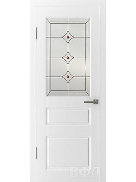 Межкомнатная дверь ВФД Честер 15ДО0 стекло 5 (Эмаль)