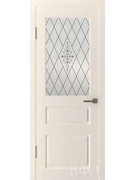 Межкомнатная дверь ВФД Честер 15ДО1 стекло 2 (Слоновая кость)