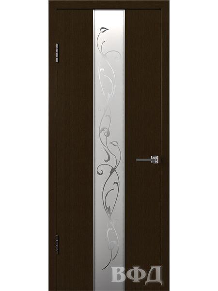Межкомнатная дверь ВФД Токио 16ДО4 зеркало 2 (Венге)