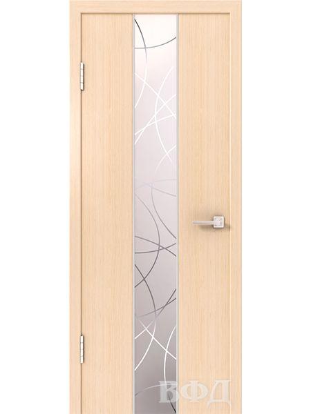 Межкомнатная дверь ВФД Токио 16ДО5 зеркало 1 (Беленый дуб)