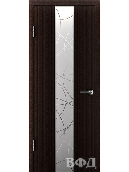 Межкомнатная дверь ВФД Токио 16ДО7 зеркало 1 (Темный венге)