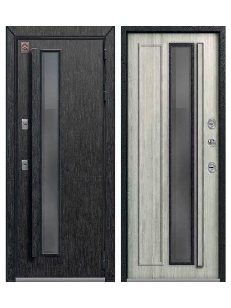 Дверь с терморазрывом ЦЕНТУРИОН T5 PREMIUM - ТЕРМО-дверь (Черный скол дуба / Полярный дуб)