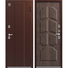 ЦЕНТУРИОН T4 - ТЕРМО-дверь (Медь / Тиковое дерево)