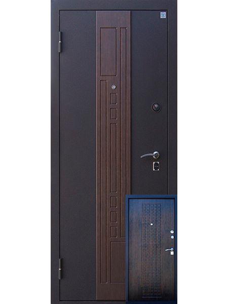 Входная дверь Алмаз Агат (Тиковое дерево)