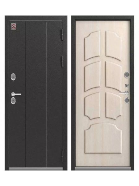 Дверь с терморазрывом ЦЕНТУРИОН T4 - ТЕРМО-дверь (Серебро антик / Седой дуб)