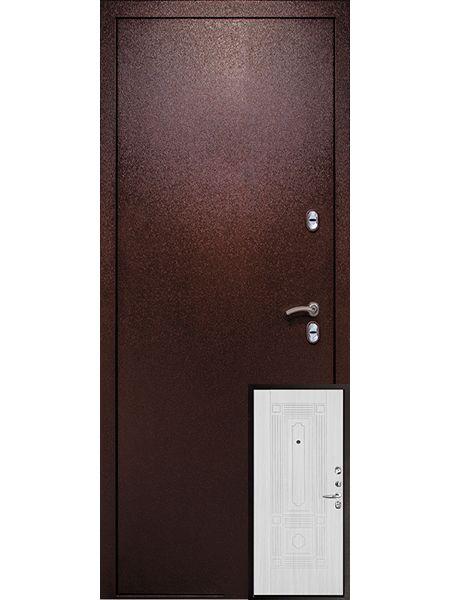 Входная дверь Легионер 3К Тепло (Беленый дуб)