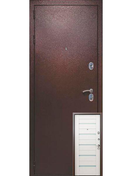 Входная дверь Легионер KVADRA 3К Techno (Беленый венге)
