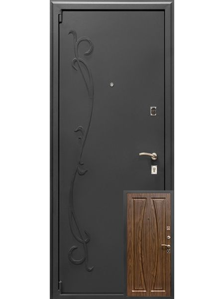 Входная дверь Монарх М-04 Аврора (Ясень темный)