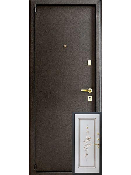 Входная дверь Монарх М-08 Цветок (Ясень белый)