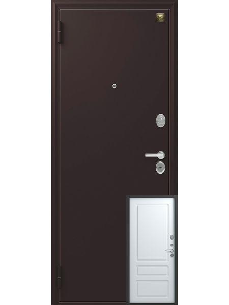 Входная дверь Зевс Z-6 (Черный шёлк - Софт белый)