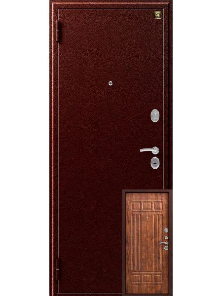 Входная дверь Зевс Z-4 (Медь - Дуб антик)