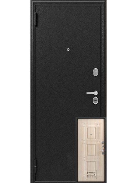 Входная дверь Зевс Z-6 (Серебро - Седой дуб)